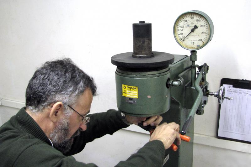 Calibração de durômetro